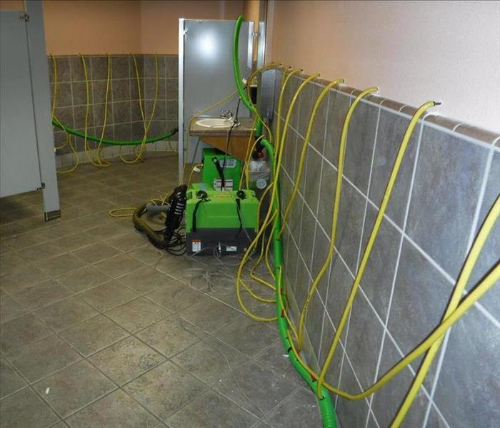 Drying a Wall in a Commercial Building