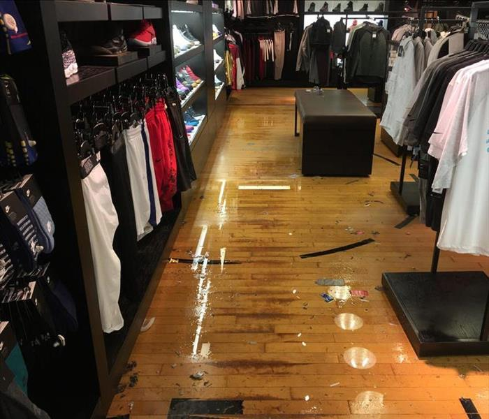 Flooded Retail Store