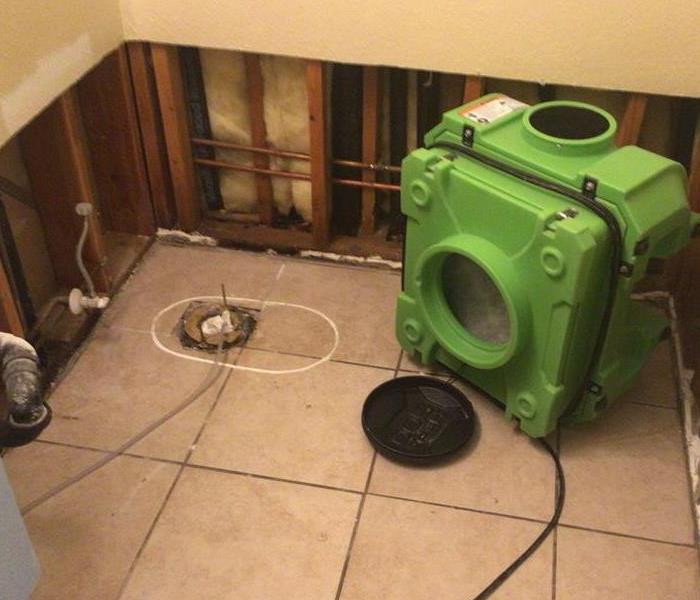 toilet removed from tile flooring and drywall removed, bathroom sewage, sewage cleanup near me, near sacramento