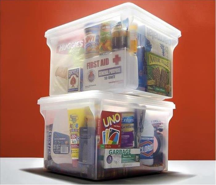 A photo of an emergency preparedness kit.